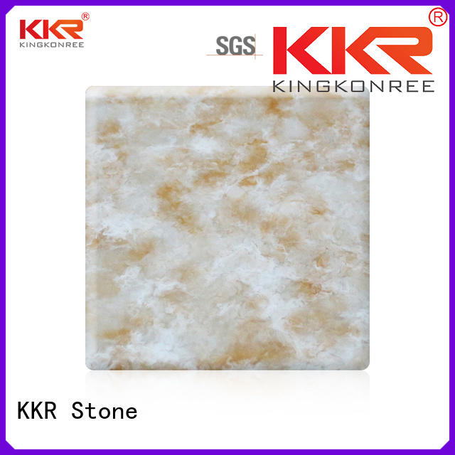 KKR Stone modified corian solid surface sheet in good performance for home