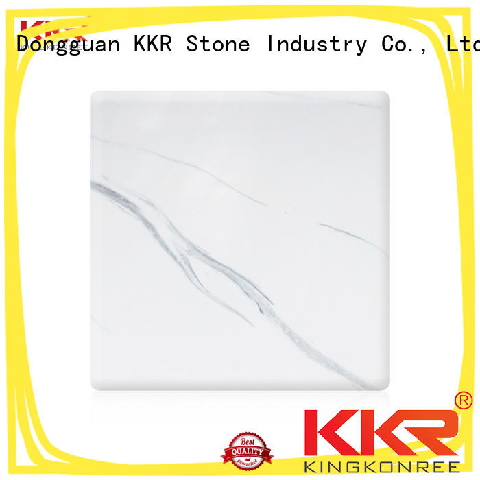 KKR Stone toxic free veining pattern solid surface texture for garden table