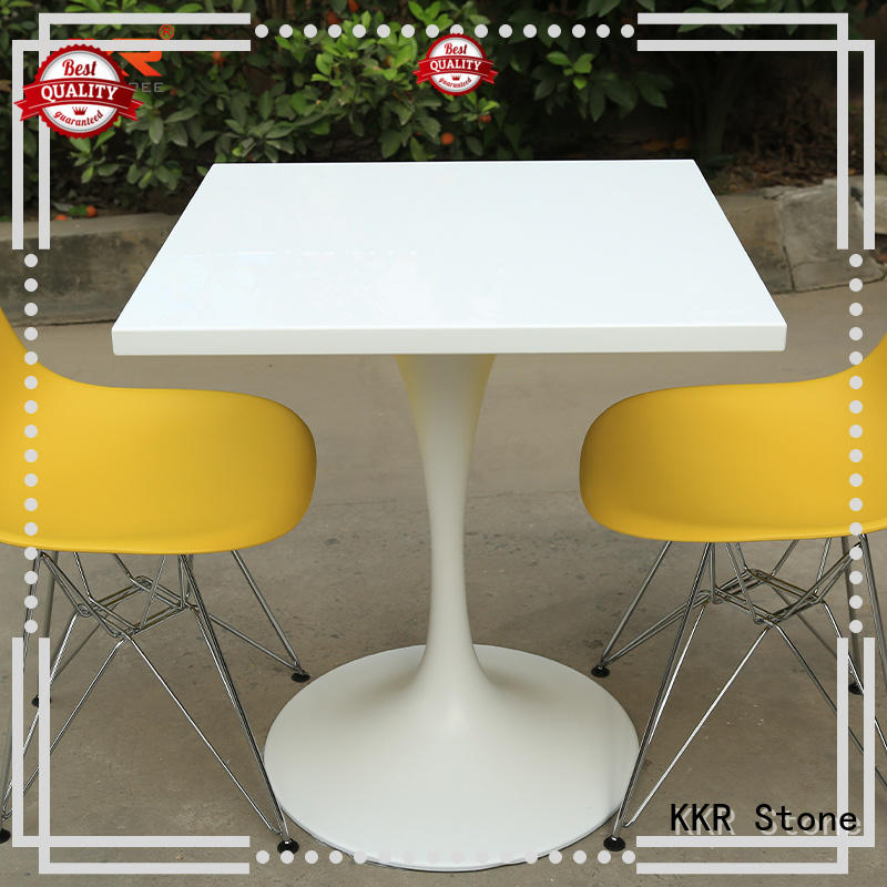KKR Stone marble dining table round