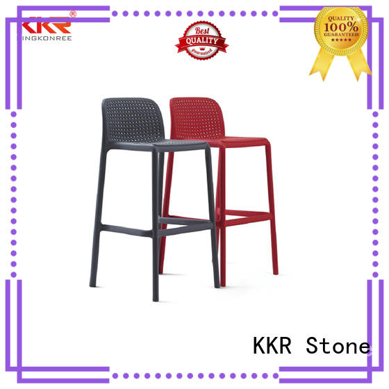 KKR Stone colorful clear plastic chair for kitchen