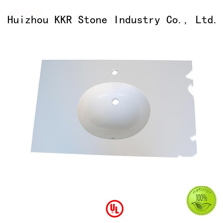 KKR Stone acrylic solid surface bathroom countertops supplier for school building