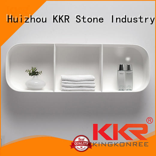 KKR Stone pattern acrylic wall shelf inquire now for hotel