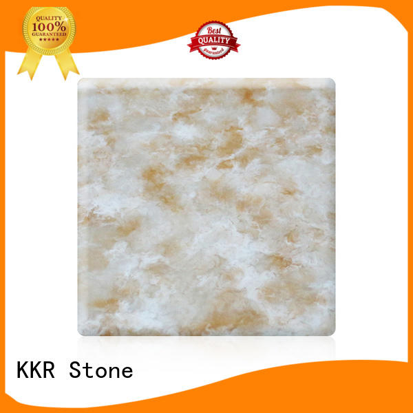 KKR Stone modified corian solid surface sheet wholesale for early education