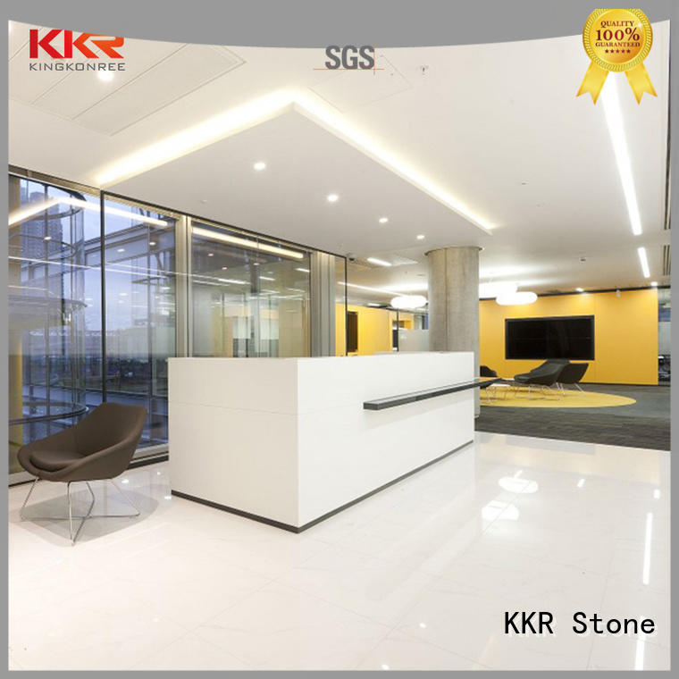 KKR Stone reception desk countertop design for entertainment