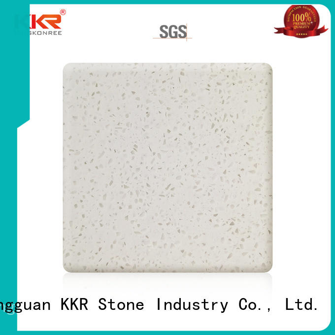KKR Stone newly solid surface factory superior chemical resistance for bar table