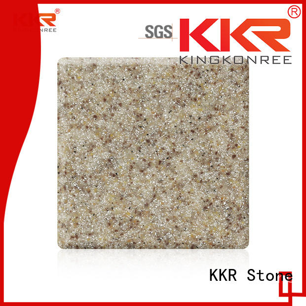 KKR Stone sand modified acrylic solid surface superior chemical resistance furniture set