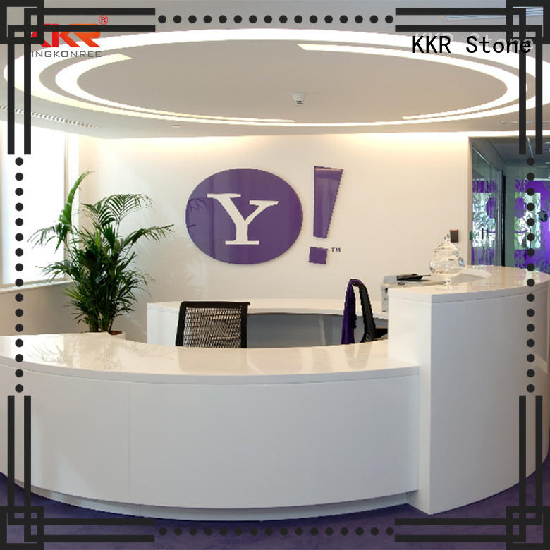 KKR Stone customize solid surface reception desk custom-design for kitchen tops