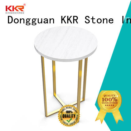 counter artificial marble dining table restaurant KKR Stone