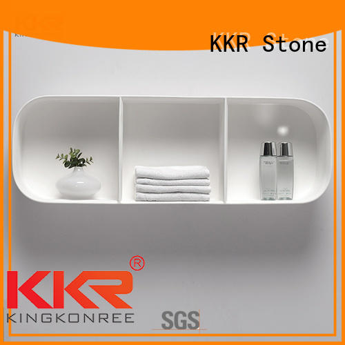 solid Surface acrylic display shelves producer for home