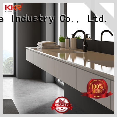 KKR Stone single vanity top bathroom in-green for home