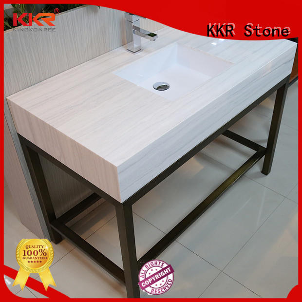 texture solid surface bathroom countertops certifications for table tops KKR Stone
