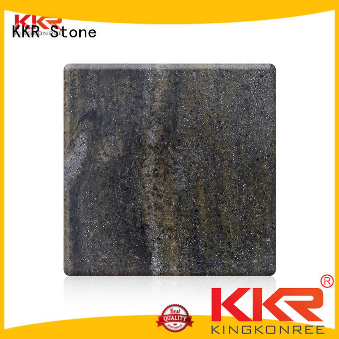 toxic free veining pattern solid surface length in good performance for school building