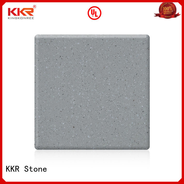 KKR Stone easily repairable solid surface sheet free quote for table tops