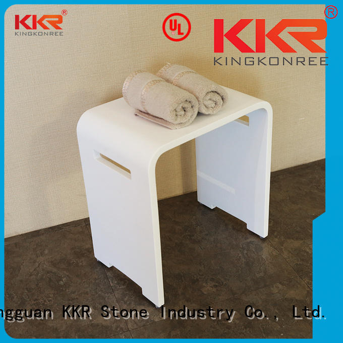 KKR Stone solid Surface metal bathroom shelf in different shape for home