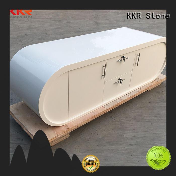 KKR Stone pure acrylic modern reception desk supplier for bar table