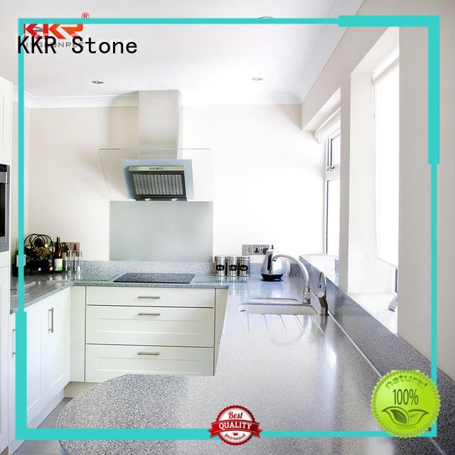 KKR Stone silky kitchen quartz countertops at discount furniture set