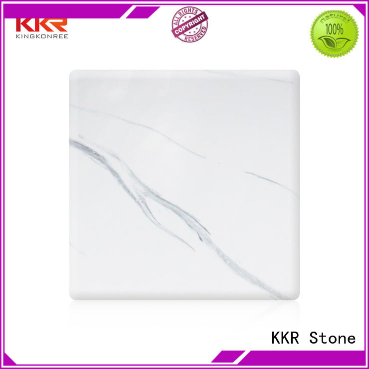 width solid surface sheets for sale in good performance for garden table KKR Stone