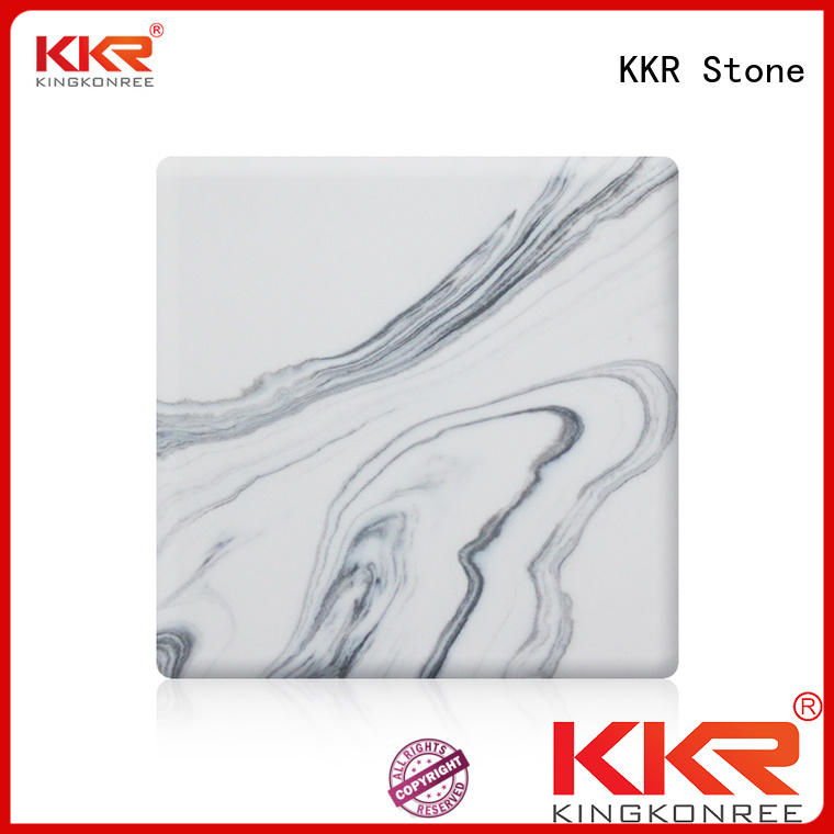 KKR Stone surface corian solid surface sheet factory for garden table
