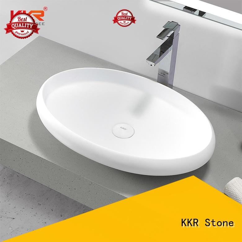 KKR Stone white corian countertops supply for kitchen tops