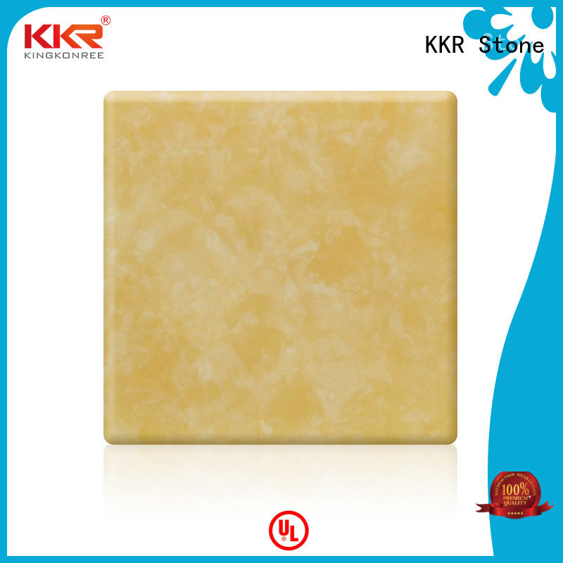 transparent acrylic solid surface sheet prices stone for garden table KKR Stone