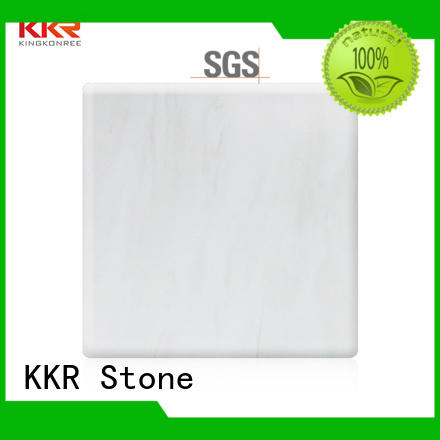 sheets solid surface acrylic pattern for garden table KKR Stone