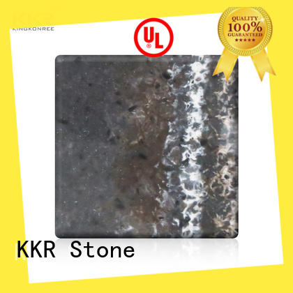 KKR Stone flame-retardant texture pattern solid surface marble for school building