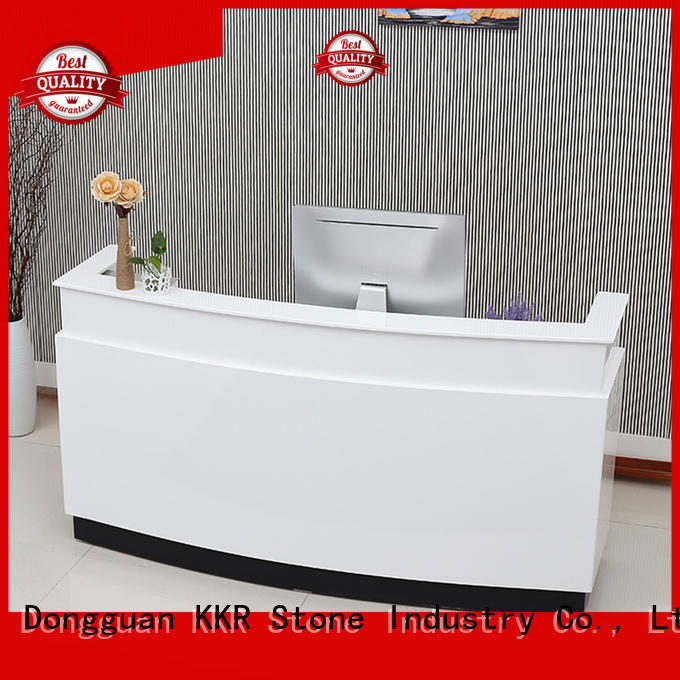 top reception desk countertop countertop for kitchen tops KKR Stone