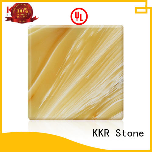 KKR Stone luxury translucent solid surface material bulk production for building