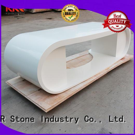 modern solid surface reception desk royal custom-design for building