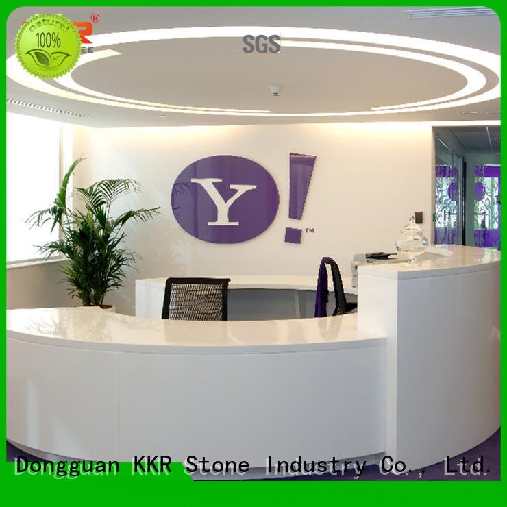 solid surface reception desk meeting for building KKR Stone