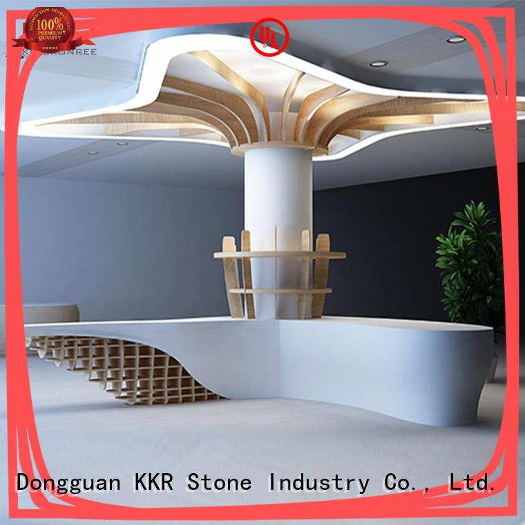 design acrylic counter top supplier for school building KKR Stone