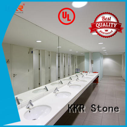 KKR Stone double Sink vanity top bathroom certifications for table tops