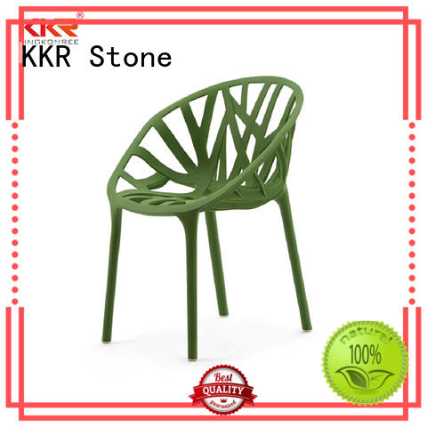 KKR Stone chairs plastic outdoor chairs owner for garden