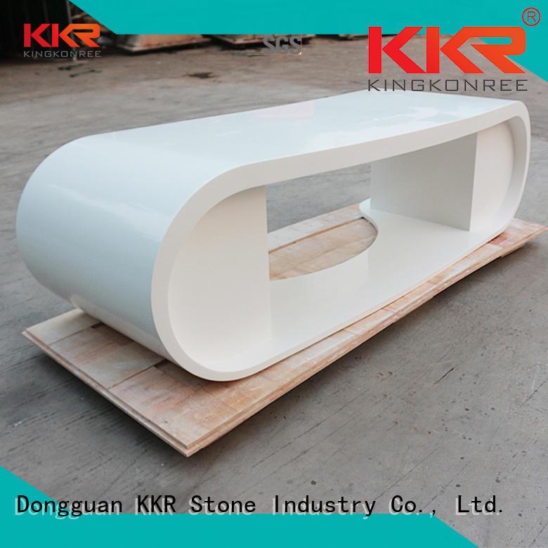 curved reception desk diamond for worktops KKR Stone