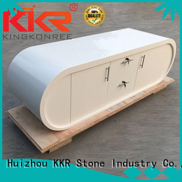 KKR Stone fashion design acrylic solid surface worktops vendor for early education