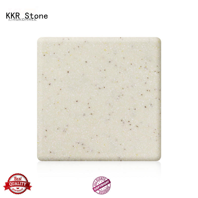 white solid surface factory superior stain for self-taught KKR Stone