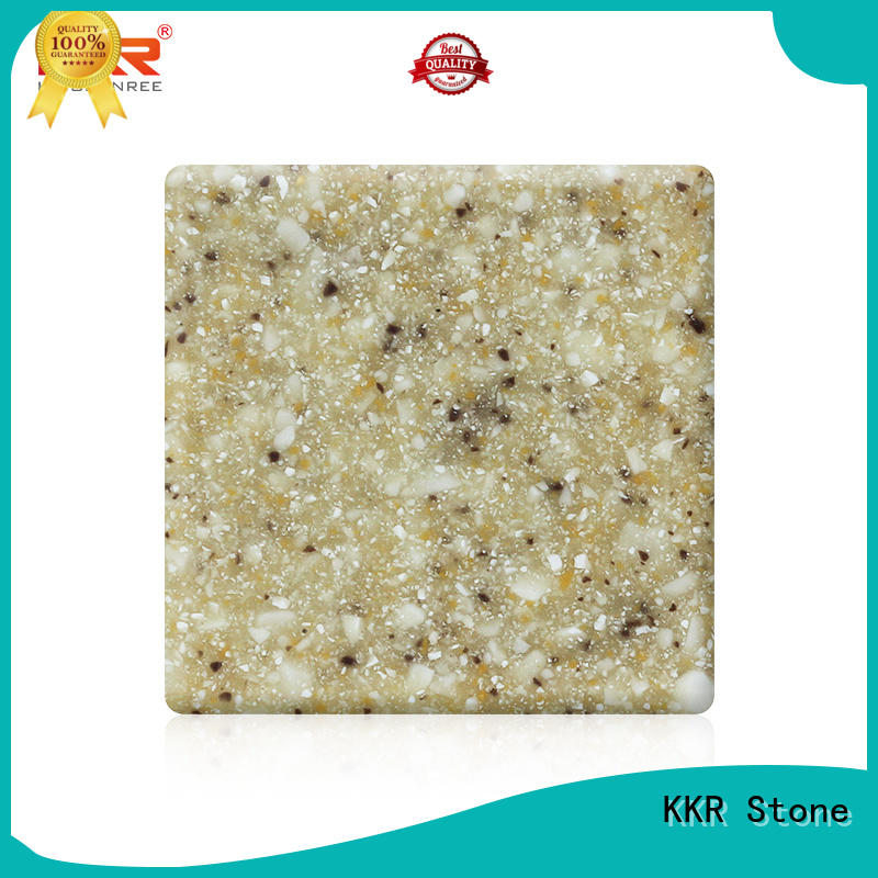 Warm touch modified solid surface sheet superior chemical resistance for garden table