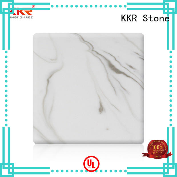 KKR Stone flame-retardant solid surface panels pattern for garden table