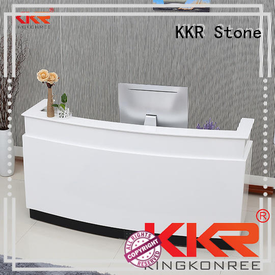 marble reception desk countertop long-term-use for entertainment KKR Stone