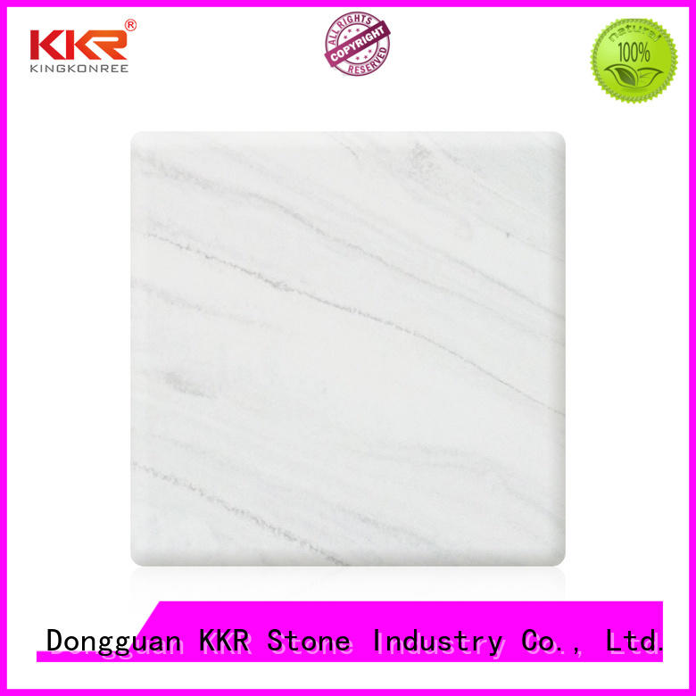 KKR Stone modern solid surface sheet quality for table tops