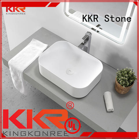 KKR Stone high tenacity corian bathroom sinks in good performance for kitchen tops
