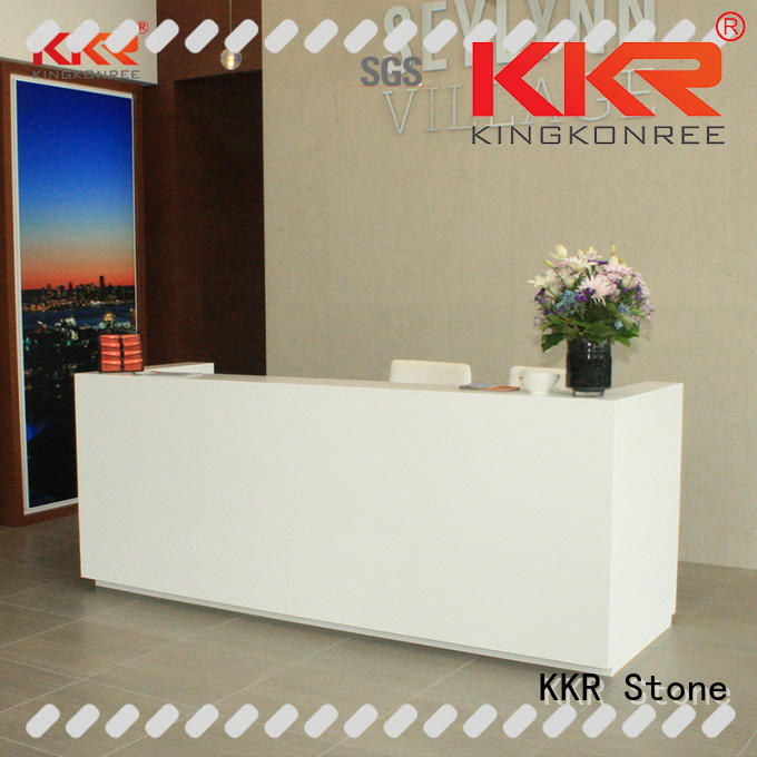 KKR Stone office reception desk countertop in special shapes for building