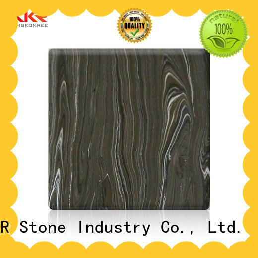 width veined solid surface sheets wholesale for bar table KKR Stone