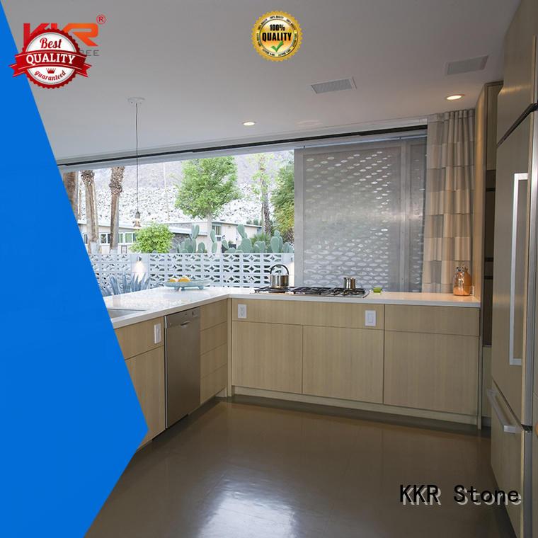 KKR Stone shape kitchen quartz countertops for bar table