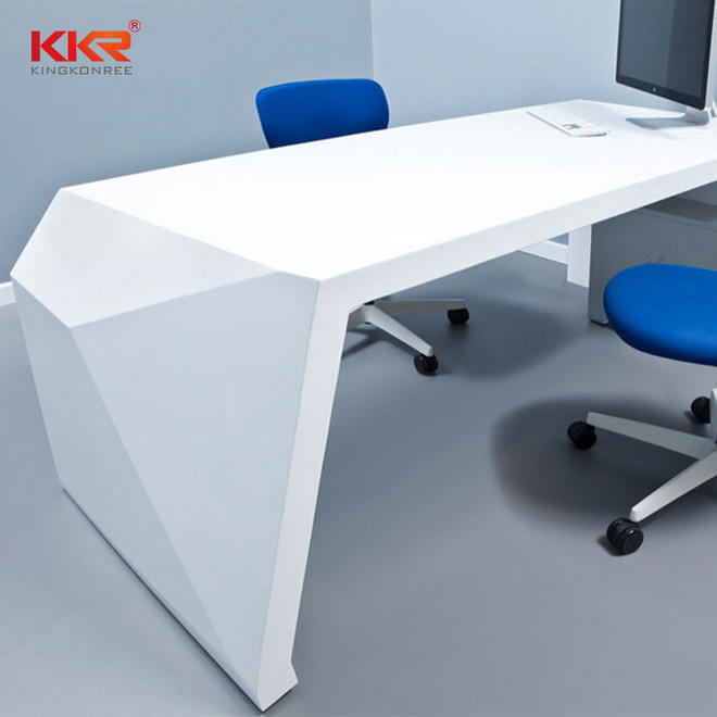 office reception desk countertop in special shapes for early education KKR Stone