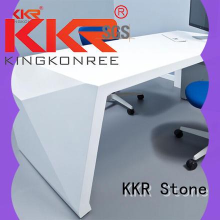 KKR Stone custom-made solid surface desk bulk production for school building