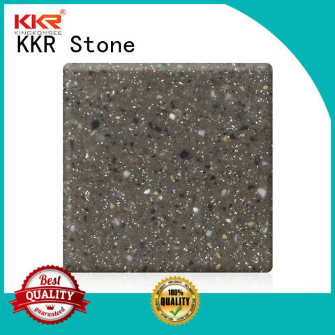KKR Stone solid surface factory superior chemical resistance for kitchen tops