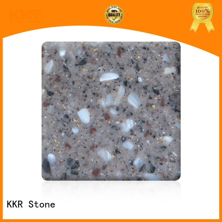 KKR Stone No bubbles solid surface factory superior chemical resistance for worktops