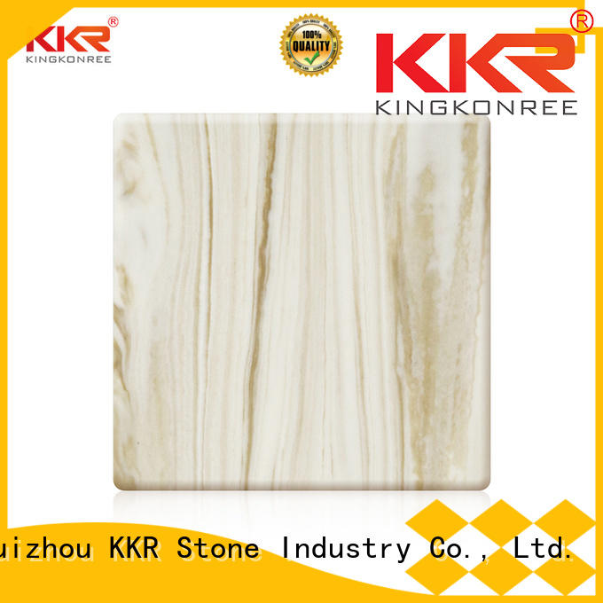 KKR Stone stone veining pattern solid surface factory for building