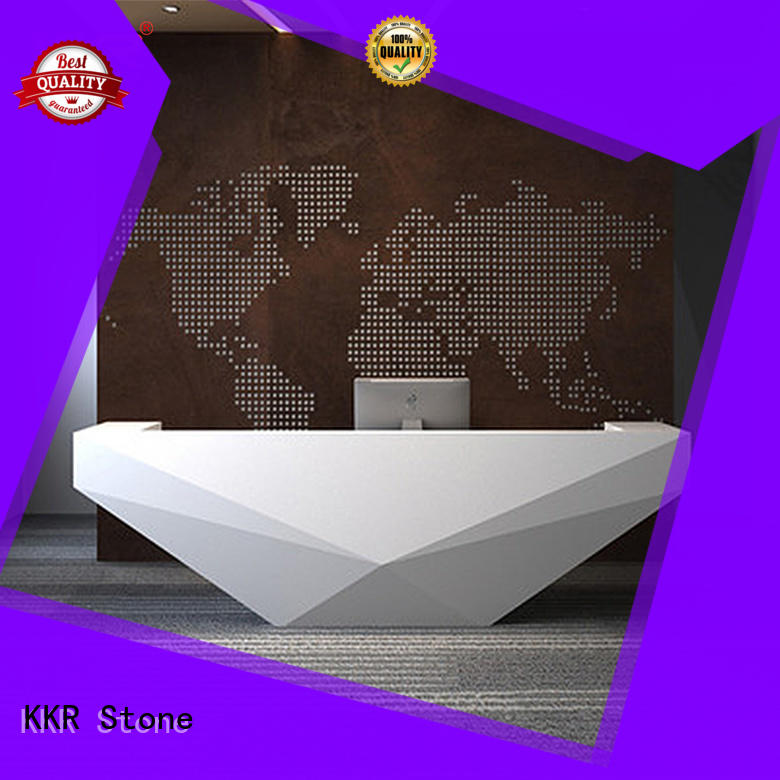 simple modern reception desk order now for early education KKR Stone
